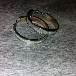 Gold & silver hoop earrings